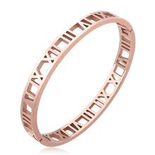 Hot Selling Fashion Hollow Designs Bracelet New Roman Numerals Bangle