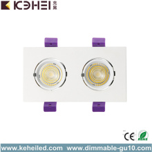 24W Zwei Haupt LED Trunk Downlight 5000K