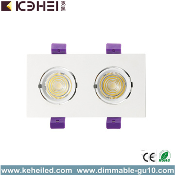 24W Två Huvud LED-trunk Downlight 5000K