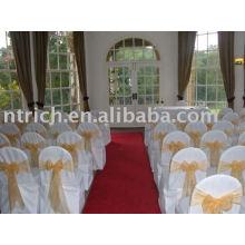 couverture de chaise de polyester 100 %, couverture de chaise de banquet de mariage/hôtel /, ceinture d'organza