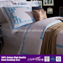 Conjunto de capa de edredão de algodão / hotel colchas / hotel 5 estrelas fornecedor