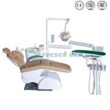 Ysgu350A Dentaleinheit mit echtem Lederstuhl Medizinische Ausrüstung