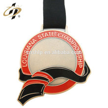 Customize zinc alloy gold plated enamel crappling blank award medal