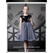 Factory Directly Baby Girl Party Wear Western Summer Beaded Frill Dress With Good Price ED670