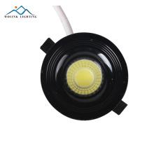 Projecteur à DEL sans garniture, à intensité variable et à intensité variable, rond et ajustable en surface