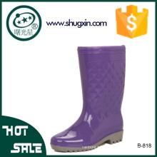 ПВХ дождя сапоги водонепроницаемый дамы модные ботинки дождя