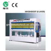 prensa caliente hidráulica de alto rendimiento / prensa en caliente de chapa y máquina de prensado en caliente para madera contrachapada con certificación CE e ISO