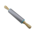 Silicone Rolling Pin manche en bois