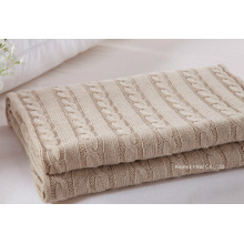 High Quality 100% Knit Cable Knit Blanket (B14106)