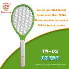 Swatter de mosca elétrico da saída europeia do Ce & do RoHS 7000V com escova de limpeza
