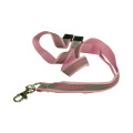Pink Polyester Lanyard with Zinc alloy spring clip