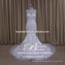 see-through back mermaid bridal dress factory direct embroidered alibaba wedding gown