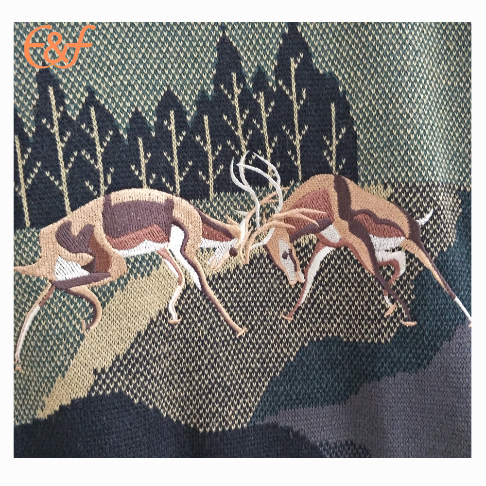 Embroidery patterns sweater