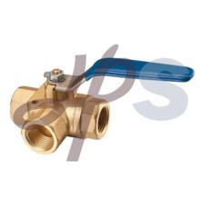 válvula de bola de 3 vías de latón de forja caliente