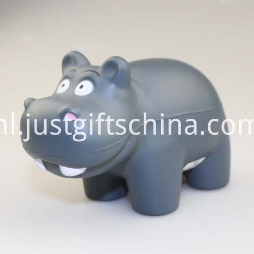 Promotional PU Hippo Gray Shape Stress Ball2