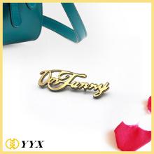 custom metal letter logo for fancy bag