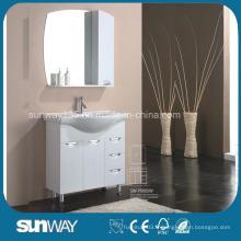 Meuble de salle de bain en MDF pour peintures brillantes au sol avec miroir