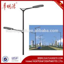 2016 dual arm steel lighting pole new design decorative street lighting pole price