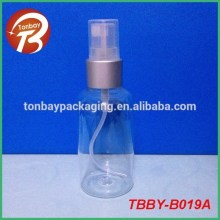 80ml boston round PET plastic container with pump dispenser TBBY-B019A