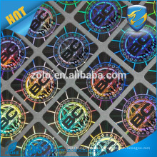 Good quality low cost free sample reflective destructive hologram sticker with high security technology