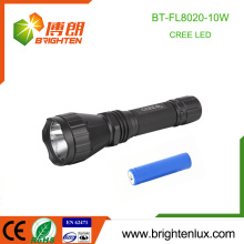 Factory Wholesale 1*18650 Multi-function 5 Mode light 10W cree xml t6 High Power Tactical Rechargeable Torch light led
