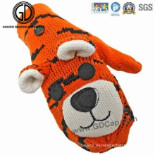 Niños Niños Animales Tiger Custom Winter Warm Gloves