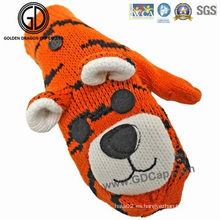 Niños Niños Animales Tiger Custom Winter Warm Gloves