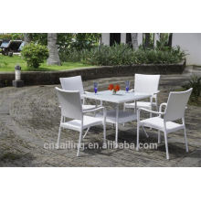 Hot sale Outdoor All Weather table basse et chaise
