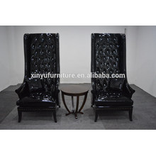 carved and pure black high back chair for wedding XYN2263                                                                         Quality Choice
