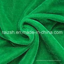 100% Polyester Super Poly Fabric / Golden Samt / Trikot gebürstet Samt