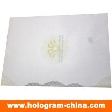 Certificado anti-falsificación de seguridad con impresión de logotipo UV