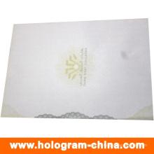 Certificado antifalsificación de seguridad con impresión de logotipo UV