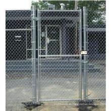 Puerta de alambre de cadena