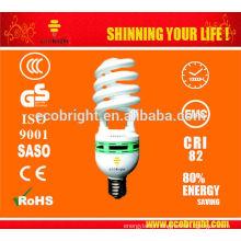 HOT! 17MM 65W 5500K SPIRAL CFL BULB ENERGY SAVING LAMP FOR STUDIO 10000H CE QULITY