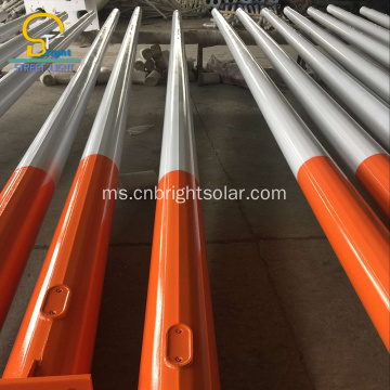 Wanted Color 12M Street Light Galvanized Pole Lighting