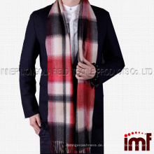 Männer Kaschmir Winter Plaid Schal, Winter Schal Weiche elegante lange Mode Wrap Schals