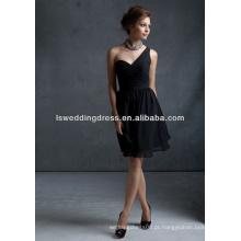 HB2009 Último vestido de dama de honra de um comprimento de chá de ombro