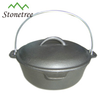 1.5-20QT Outdoor Camping Double Used Pre-seasoned Cast Iron Dutch Oven