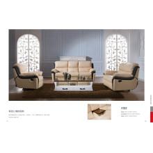 Sofá de salón con sofá moderno de cuero genuino (418)