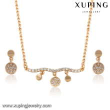 64047- Xuping Modern Stylish Fake Gold Jewelry Set For Party