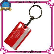 Porte-clés en acier inoxydable avec logo imprimé