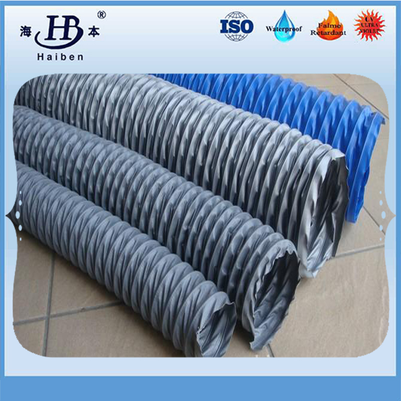 China negative pressure pvc coated ventilation duct fabric