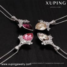 Bijoux à la mode 43481-Crystals de Swarovski, collier lourd en strass