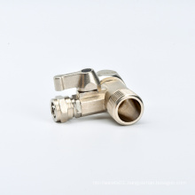 """RO Water Filters Feed Water Adapter 1/2"""" to 3/8"""" Ball Valve Faucet Filling Valve Water Tank Inlet Valve BRASS Standard Angle"""