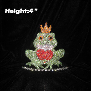 4 pulgadas de altura Crystal Frog Pageant Princess Crown