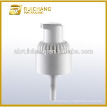 Pompe à lotions en plastique à revêtement UV avec AS overcap / 20mm crème lotion pompe / uv coating lotion pump dispenser avec AS overcap