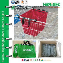 resuable waterproof 210D oxford trolley shopping bag for supermarket