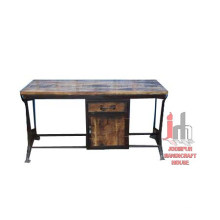Industrial Table with cabinet