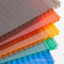 Polykarbonat-Blatt-multiwall Blattoberlicht-Roofling bedeckt 10 Jahre Garantie-unterschiedliche Farben