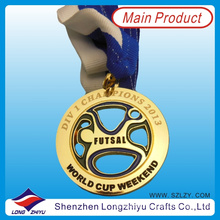 2013 Austrália Souvenir Réplica Medalhas medalha de futebol moeda Medalha de futebol oco Medalha Laser para Champion (lzy00062)